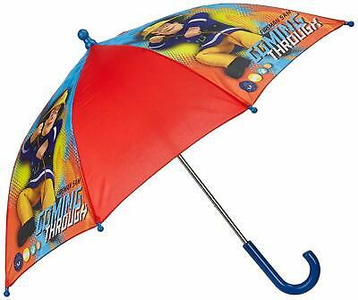 Boys Fireman Sam Coming Through Childrens Pinch Proof Rain Umbrella Brolly Red