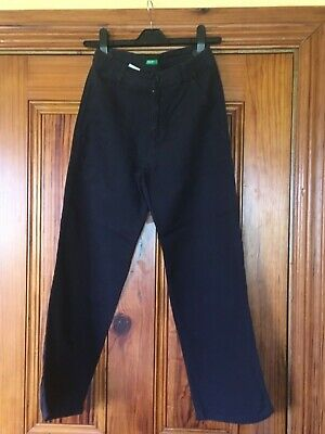 United Colors of Benetton Boys Navy Blue Trousers age 10 / 145 -157cm
