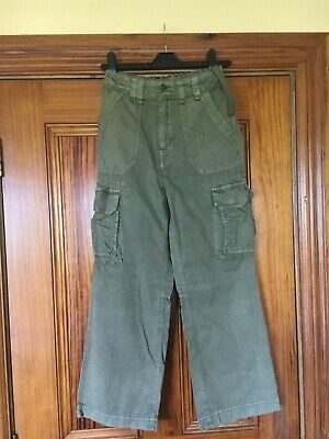 Dunnes age 10 Khaki Green Combat Trousers Waist Size 24.5 inches / 62cm