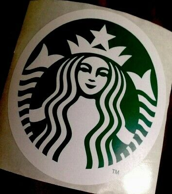 "4x New Large Starbucks Coffee Vinyl Sticker Decal 3"" Large Free Stickers"