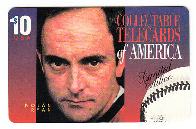 NOLAN RYAN $10 Phone Card 1994 Telemax TEXAS RANGERS MLB Hall Of Fame Pitcher NM