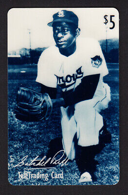 SATCHEL PAIGE Phone Card $5 Unused MINT 1994 TeleTrading Cards Inc HALL OF FAME
