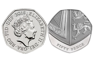 2018 Royal Shield 50p fifty pence coin Brilliant Uncirculated BUNC UK Royal Mint