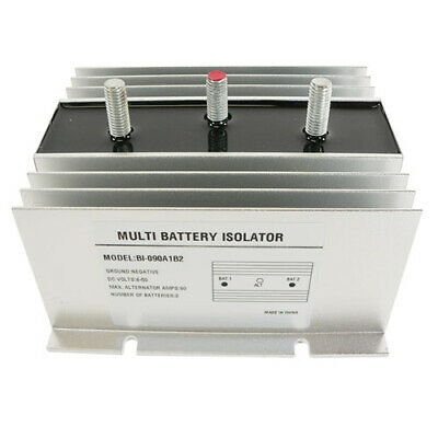 NEW 90 AMP DUAL MULTI 2 TWO BATTERY ISOLATOR- Marine, RV, EMS