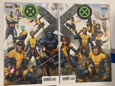 House of X #4 & Powers of X #4 Jorge Molina Connecting Variant Cover Set NM