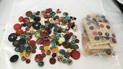 Vintage Buttons mixed lot some carded some loose