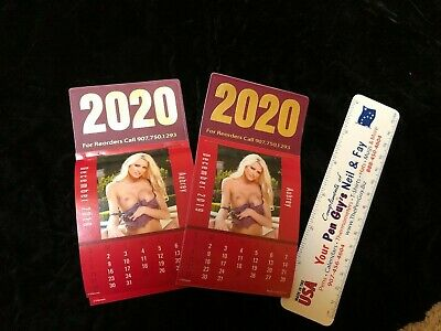 sexy girl 2020  calendar 12 pictures topless~free postage~~lot of 2~3x6 inch