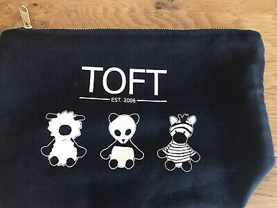 Rare Limited Edition Toft Project Bag Featuring Zebra, Panda & Sheep Vgc