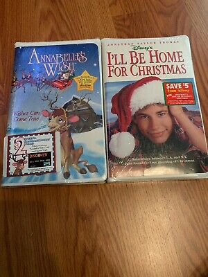 Lot Of 2 Christmas VHS Tapes: Hallmark's Annabelle's Wish, Disney's I'll Be Home