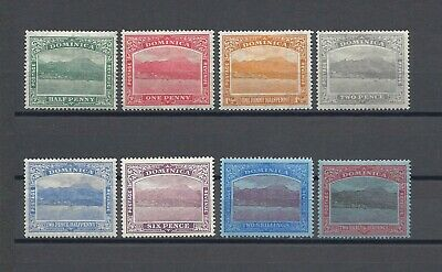 DOMINICA 1921-22 SG 62/70 MINT Cat £100