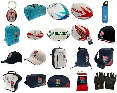 England Rugby World Cup 2019 Ball Hat Scarf Drink Bottle, Key Ring, Bag, Glove