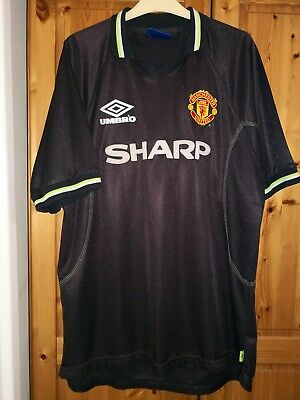 Manchester United football shirt jersey Sharp size XL for mens  Umbro 1998 /99