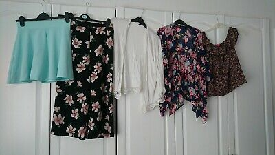 Girls Summer Bundle, Tops, Skirt, Trousers Aged 12-13 4 Items In Total new look