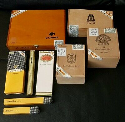 Lotto Scatole Sigari Vuote Da Collezione  Cigars Boxes Empty Collectible