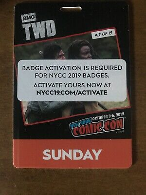 New York Comic Con Sunday Adult Pass NYCC 2019 Javits NYC Badge Ticket SOLD OUT