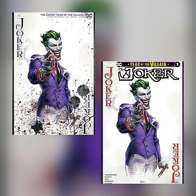 Joker Year Of The Villain #1 Clayton Crain Exclusive Variant Set Nm Presale