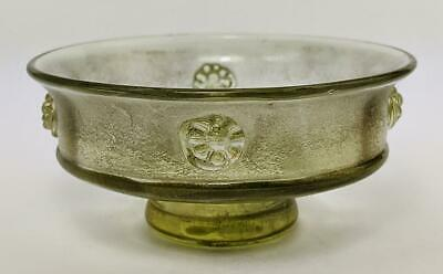 ANTIQUE ROMAN STYLE GLASS FOOTED BOWL c1900