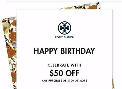 $50 off TORY BURCH Purchase Online/In Store Promo Coupon Code Expires 9/30/19
