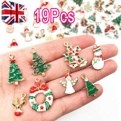 19 PCs Metal Alloy Mixed Charms Christmas Pendant DIY Craft For Jewelry Making L