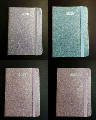 2020 Diary A6 Week To Page Glitter Fancy Cover Small Diary A6 WTA Diary