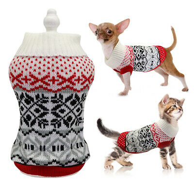 Dog Sweaters for Small Dogs Boy Pet Cat Puppy Knitted Knitwear Chihuahua Clothes