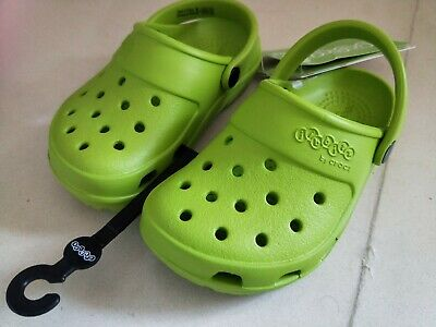Brand New Kids Boys Girls Unisex Crocs Jibbitz Volt Green Sz 11