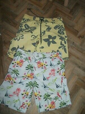 Bundle: Two pairs men's swimming holiday shorts NEXT/RIVER ISLAND Size L - 34W.