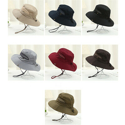 Men's Summer Sun Hat Mesh Breathable Foldable Outdoor Travel Hiking Fishing Cap