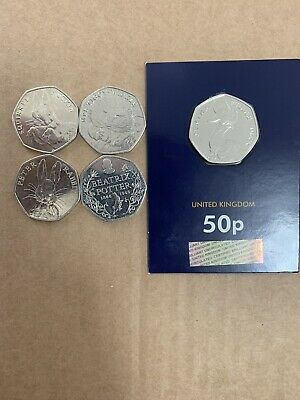 2016 beatrix potter 50p coin set including the Uncirculated jemima puddleduck