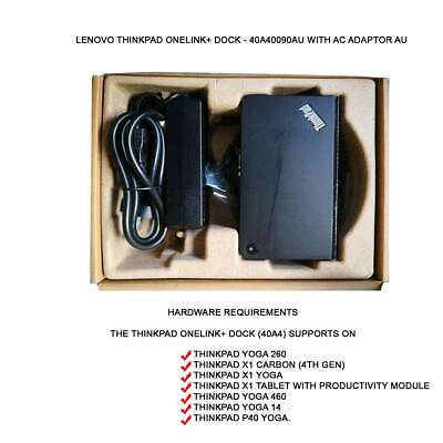 New Opened Lenovo ThinkPad OneLink+ Dock - 40A40090AU WITH AC ADAPTOR AU
