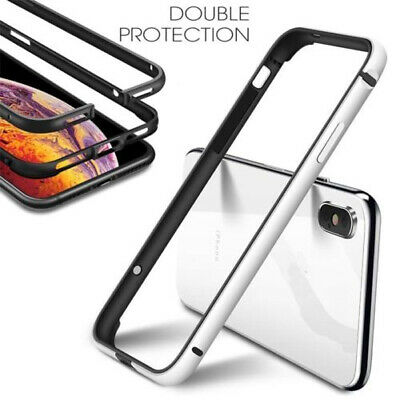 For iPhone 11 Pro Max XS X XR 8 Plus Bumper Case Hard Slim Aluminum Metal Cover