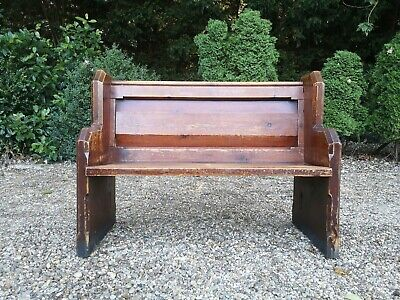 Old Vintage Church Pew Solid Wooden Oak?  *FREE DELIVERY*