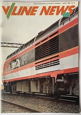 VLine News Magazine April 1985 Featuring XPT Visit to Melbourne (Very Good)