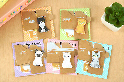 FD927 Funny Puppy House Dog Sticker Bookmark Mark Memo Sticky Note ~1pc~