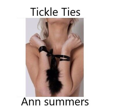 10 x job lot wholesale Ann summers tickle ties sexy naughty shades of black kink
