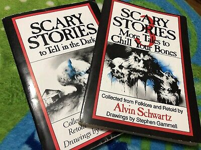 SCARY STORIES to Tell in the Dark 1 & 3 Books 1989, 1991 Scholastic First Print