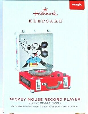 2019 Hallmark Mickey Mouse Record Player   Free Shipping !!