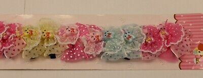 20 x bow and flower style girls kids baby hair clip slide grip hair pin