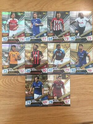 Match Attax ULTIMATE 2018/2019  Complete Set One-Club-pl & Legends Cards 121-130