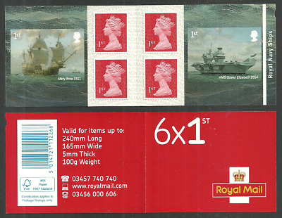 Gb 2019 Royal Navy Ships Military Queen Elizabeth Mary Rose Booklet Mnh