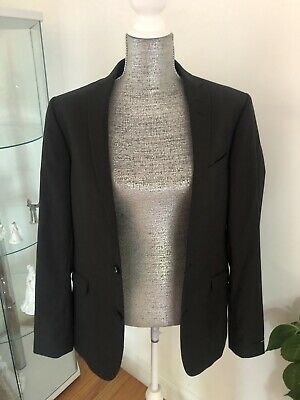 Mens Black Blazer Jacket Tiger Of Sweden Size 150 Europe