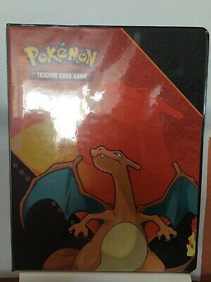 Ultra Pro Charizard Binder Containing Lot Of Old Pokemon Cards Ex Era Onwards