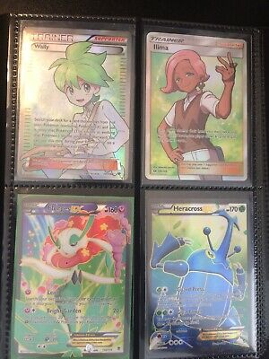 Ultra Pro Binder With Holo Pokemon Cards Full Arts, Old Ex Cards, Gold Border