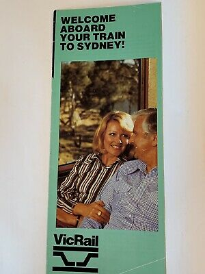 VIcRail Intercapital Daylight Onboard Journey Guide Melb-Sydney 1981 (very good)