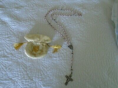 NOTRE DAME PARIS Pink and Floral Beads Rosary Handmade and Ethically Sourced