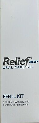 Philips Relief Acp Oral Care Gel-4x Syringes Relieves Tooth Sensitivity Exp11/21