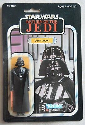 Star Wars Vintage Original Kenner DARTH VADER on ROTJ card - Not a recard