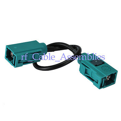 Fakra Z jack to jack pigtail cable for Neutral Coding 3m RG174