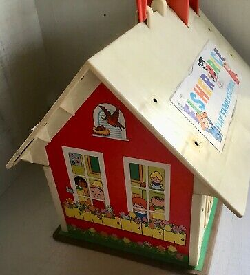 Vintage 1970's Fisher Price Little People Schoolhouse