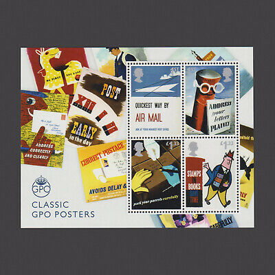 2016 Royal Mail 500 'Classic Posters' Miniature Sheet without Barcode
